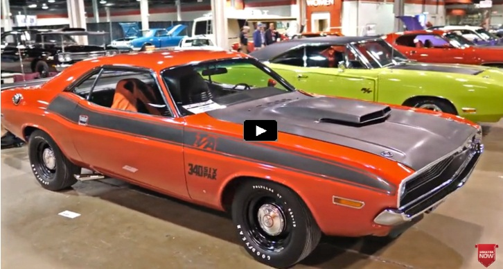 collection of iconic mopar muscle cars