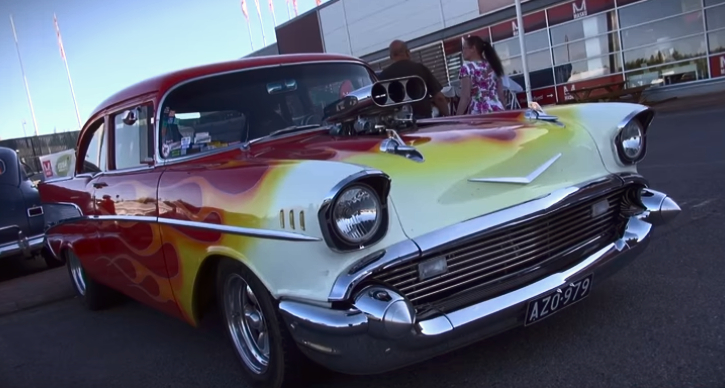 blown 1957 chevrolet bel air