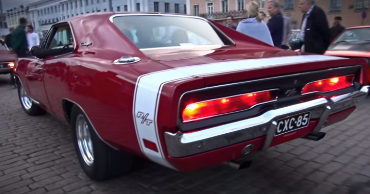 red 1969 dodge charger rt
