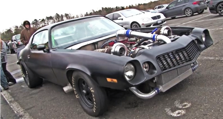 twin turbo chevy camaro drag racing