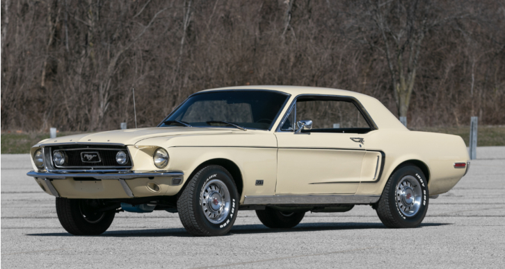 rare 1968 ford mustang coupe s-code