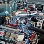 procharged_chevy_belair_engine