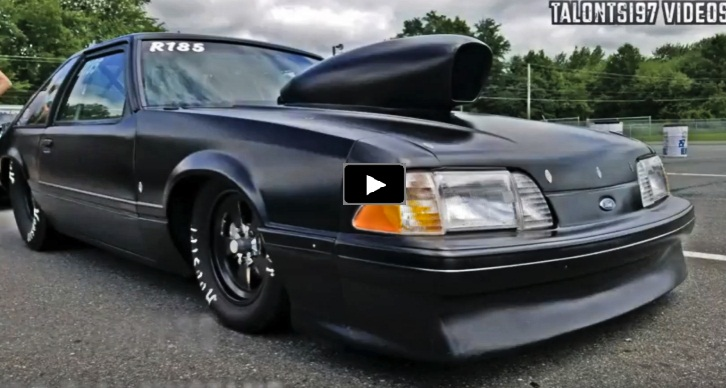 small tire fox body mustang drag racing