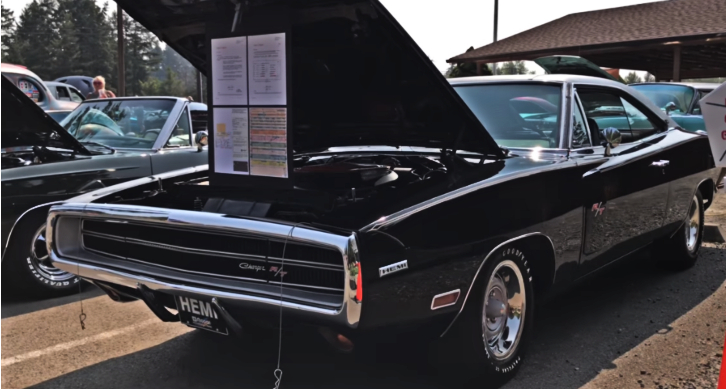 black 1970 dodge charger r/t time capsule
