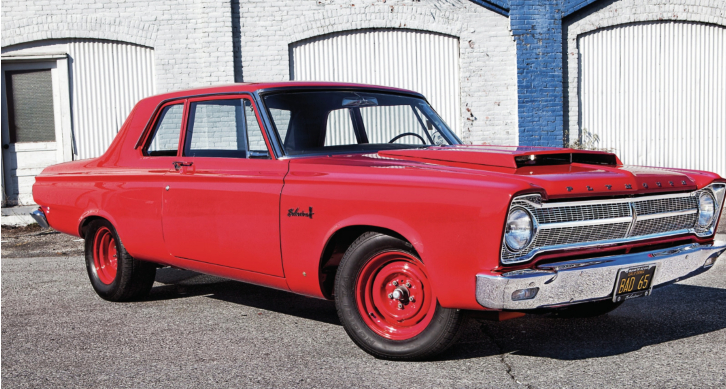 bright ruby red 1965 plymouth hemi belvedere