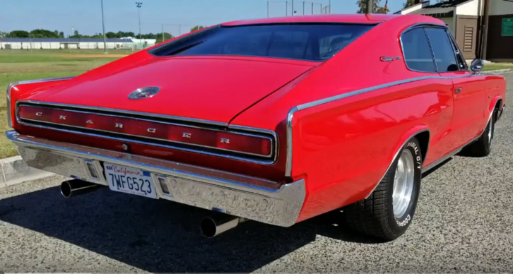 red 1966 dodeg charger