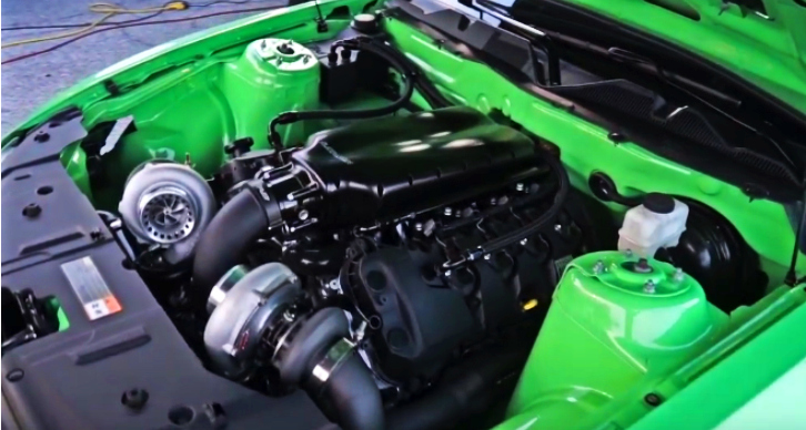 twin turbo coyote mustang drag racing