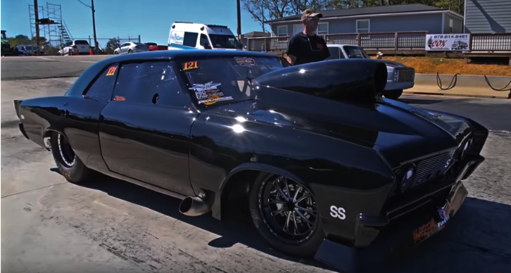 procharged chevy chevelle grudge car