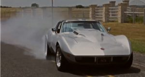big block corvette burnouts