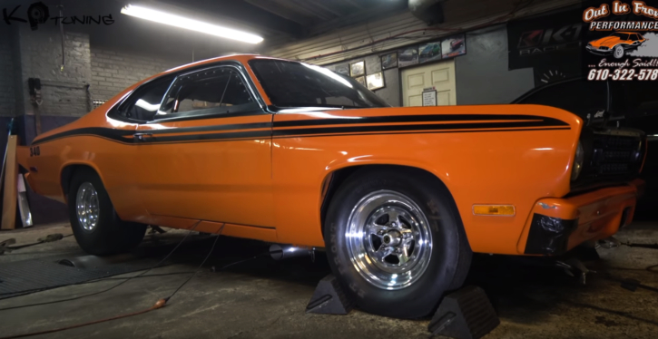 plymouth duster small block dyno video