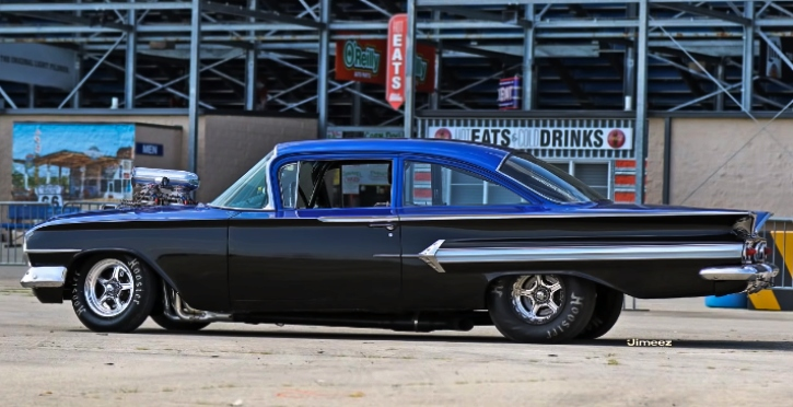9 second chevy biscayne street car