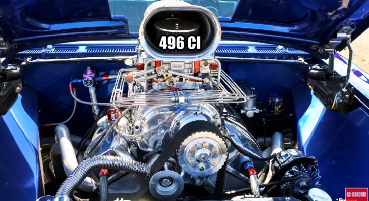 blown 1960 chevy biscayne drag racing