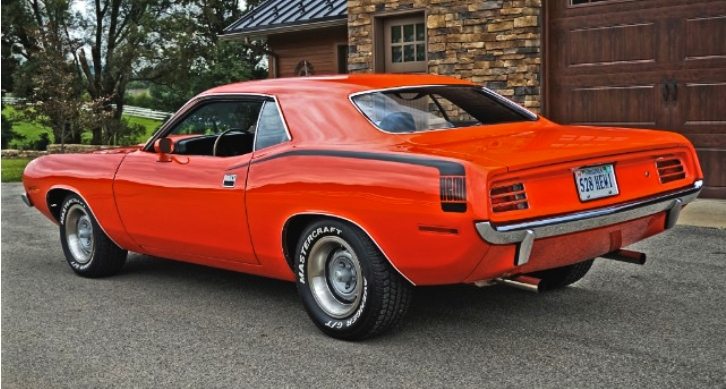 tor red 1970 plymouth cuda