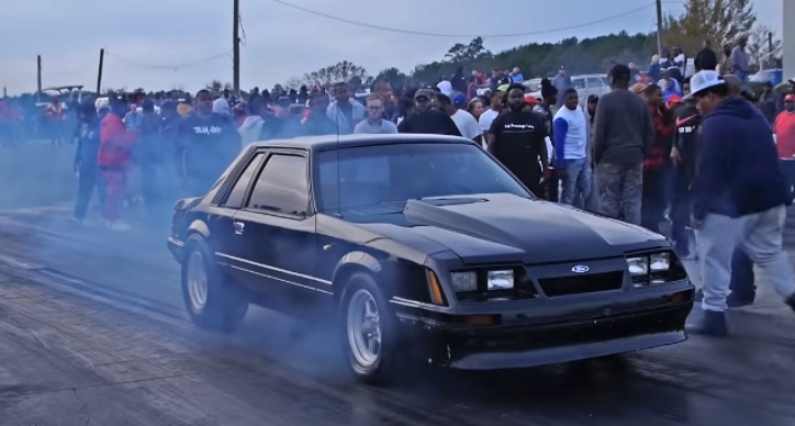 nitrous fox body mustang drag racing