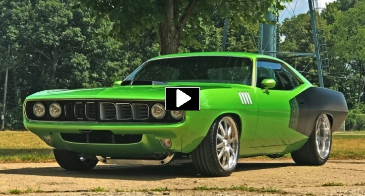green 1971 plymouth cuda pro touring