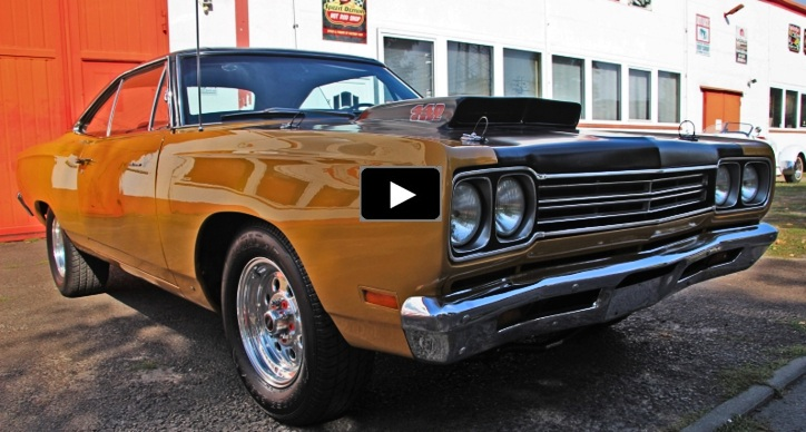 restored 1969 plymouth road runner 440 automatic
