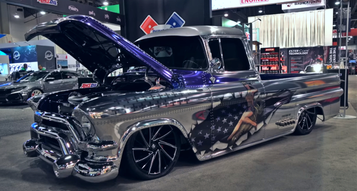 custom built chevy truck v10 engine