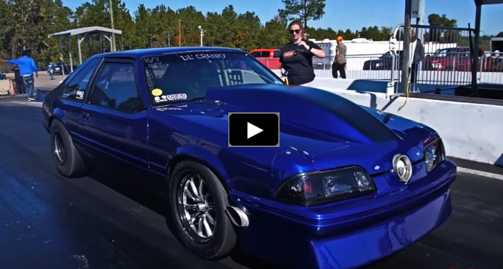 lil cranky fox body mustang drag racing