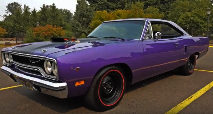 restored 1970 plymouth road runner v-code