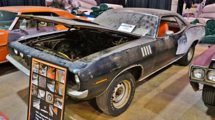 1971 cuda 383 4-speed barn find