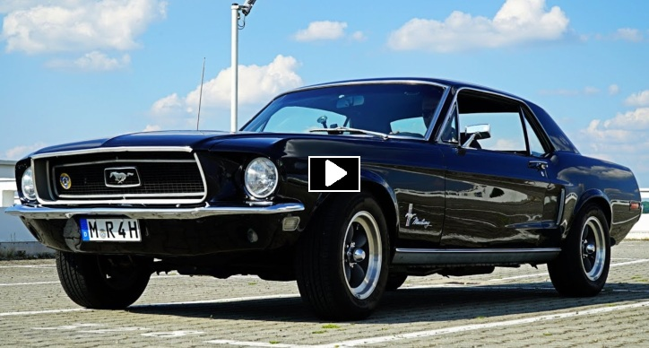 1968 mustang coupe 289 video