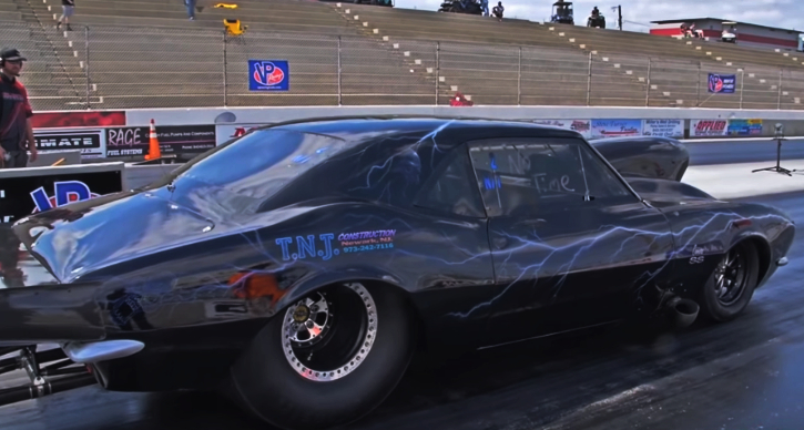 nitrous first generation camaro drag racing