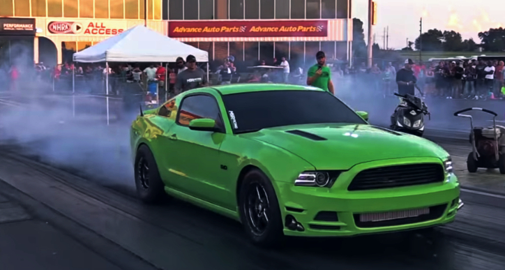 twin turbo mustang drag racing street car takeover
