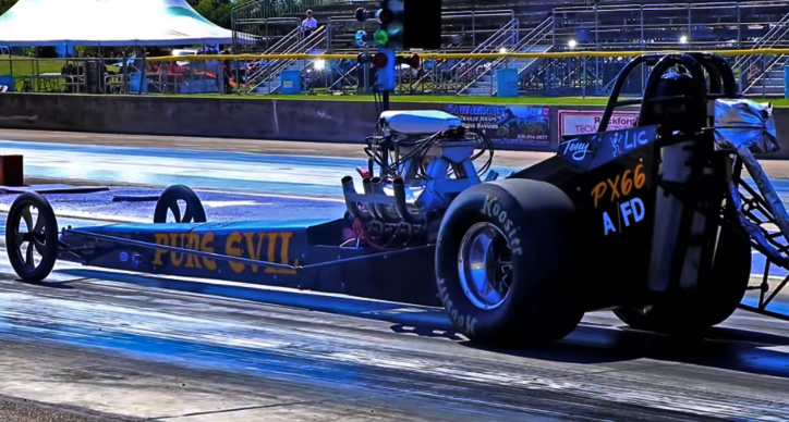 tony price pure evil dragster byron dragway