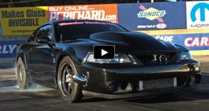slowbra ford powered turbo cobra mustang drag racing