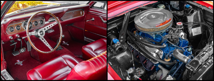 rangoon red 1966 ford mustang