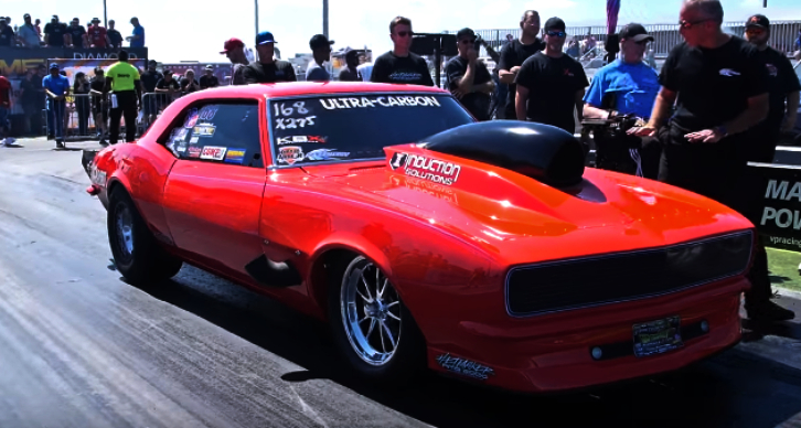 nitrous small block camaro drag racing