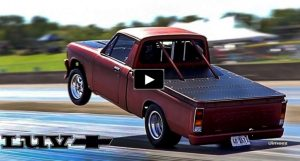 wheelstanding chevy luv truck
