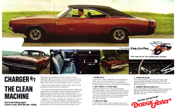 1968 dodge charger r/t 426 hemi 4-speed