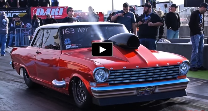 nitrous chevy nova drag racing
