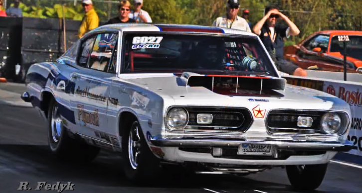 ray barton hemi plymouth barracuda drag racing