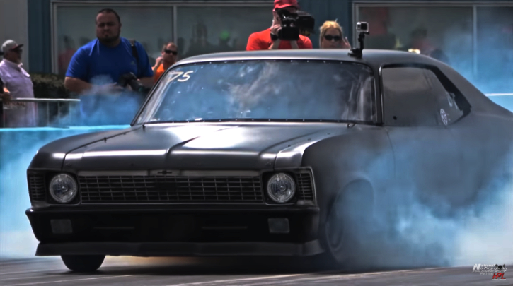street outlaws chevy nova vs junkyard dog camaro