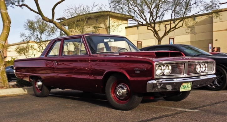 burgundy 1966 dodge coronet 426 hemi 4-speed
