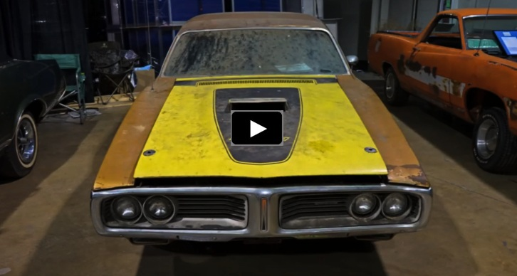 1972 dodge charger 440 barn find
