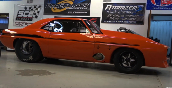 street outlaws james goad new procharged camaro