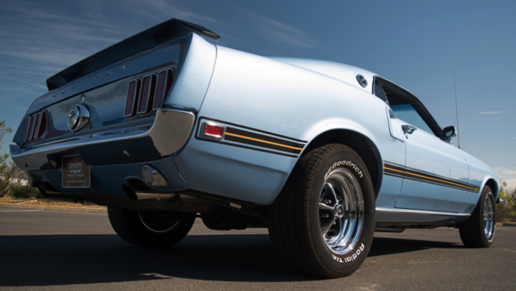 winter blue 1969 mustang mach 1 restored