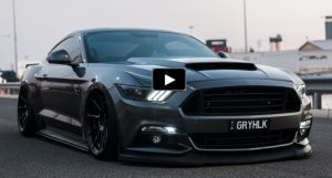 customized magnetic grey s550 mustang