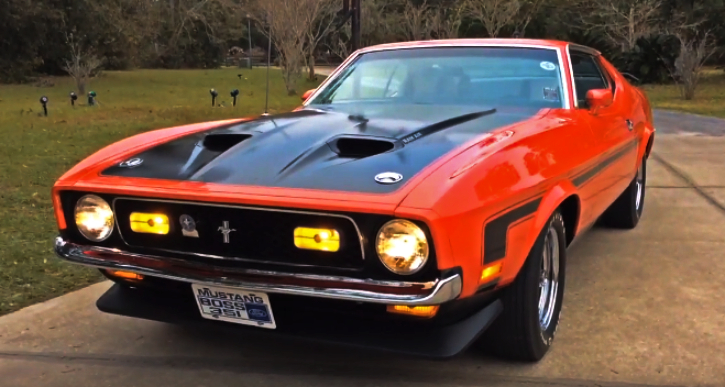 restored 1971 ford mustang boss 351