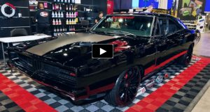 black 1969 dodge charger supercharged hellcat engine