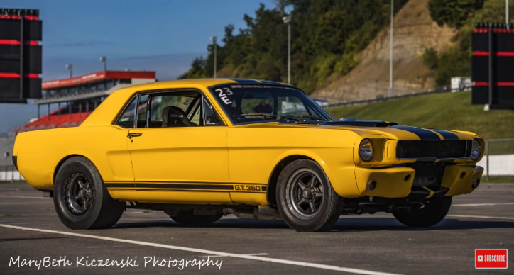 twin turbo yellow fever mustang drag racing