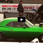 plymouth hemi cuda vs suzuki gsxr 1000 drag race