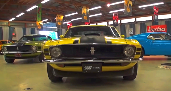 1970 mustang boss 302 introductory show car