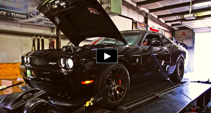 modified hellcat dodge challenger srt dyno