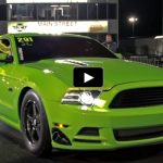 The Snot Rocket mustang drag racing