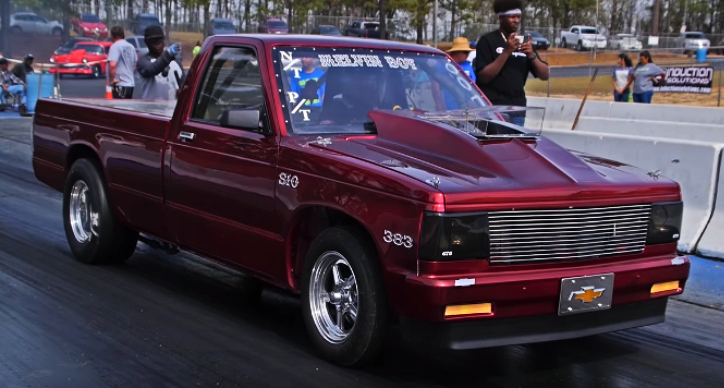 all motor chevrolet s10 drag racing