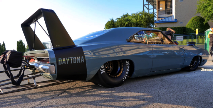 blown dodge charger daytona drag racing